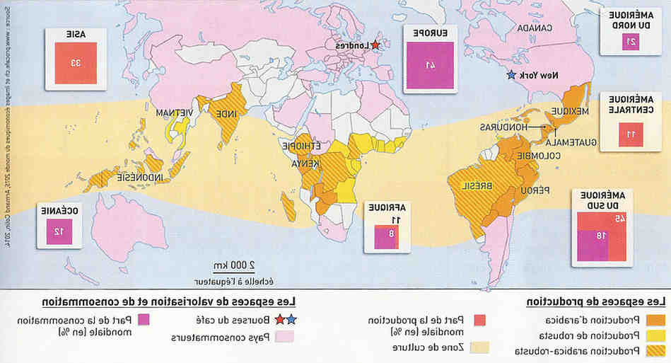 Quel pays est le premier producteur et fabricant de café?